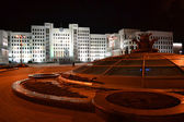 Parliament building in Minsk at night. Belarus — Stock Photo