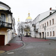 View of street in Vitebsk on a cloudy spring day — Foto de Stock