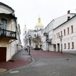 View of street in Vitebsk on a cloudy spring day — Foto Stock
