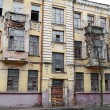 The old dilapidated building in the historic part of Vitebsk - Stock Photo