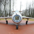 Old Russian military aircraft MiG-15 in museum — Stock Photo