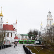 View of street in historic part of Vitebsk — Stock Photo #7953773