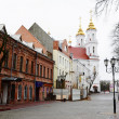 View of street in historic part of Vitebsk — Stock Photo