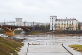 View of the river Western Dvina and the city of Vitebsk — Stock Photo