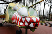 Russian helicopter in museum — Stock Photo