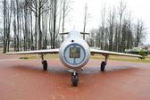 Staré ruské vojenské letouny mig-15 v muzeu — Stock fotografie