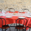 Table before the celebration - View 3 — Stock Photo
