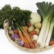 Vegetables for cooking soup - Stock Photo