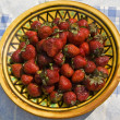 Plate with strawberry — Stok fotoğraf