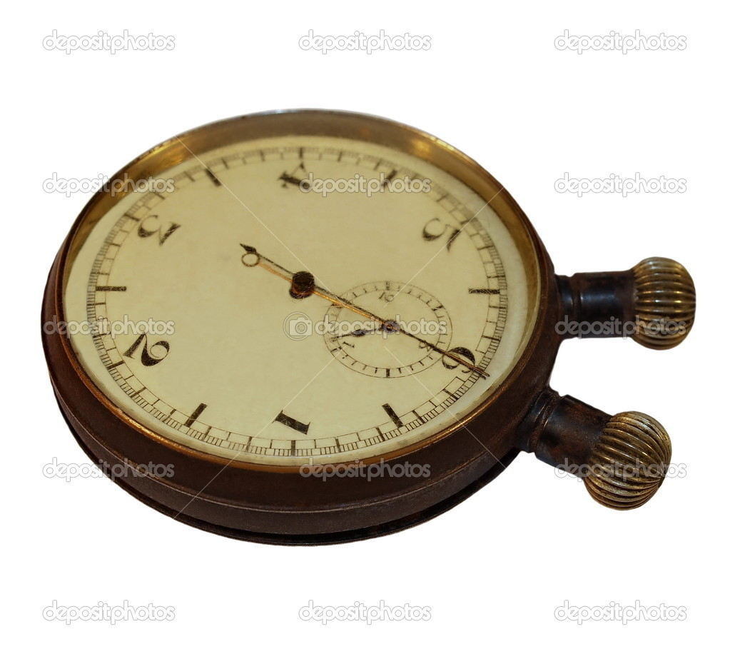 Old Stopwatch isolated on  white background — Stock Photo #7033679