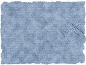 Textura de papel viejo azul con letras aisladas sobre fondo blanco — Foto de Stock