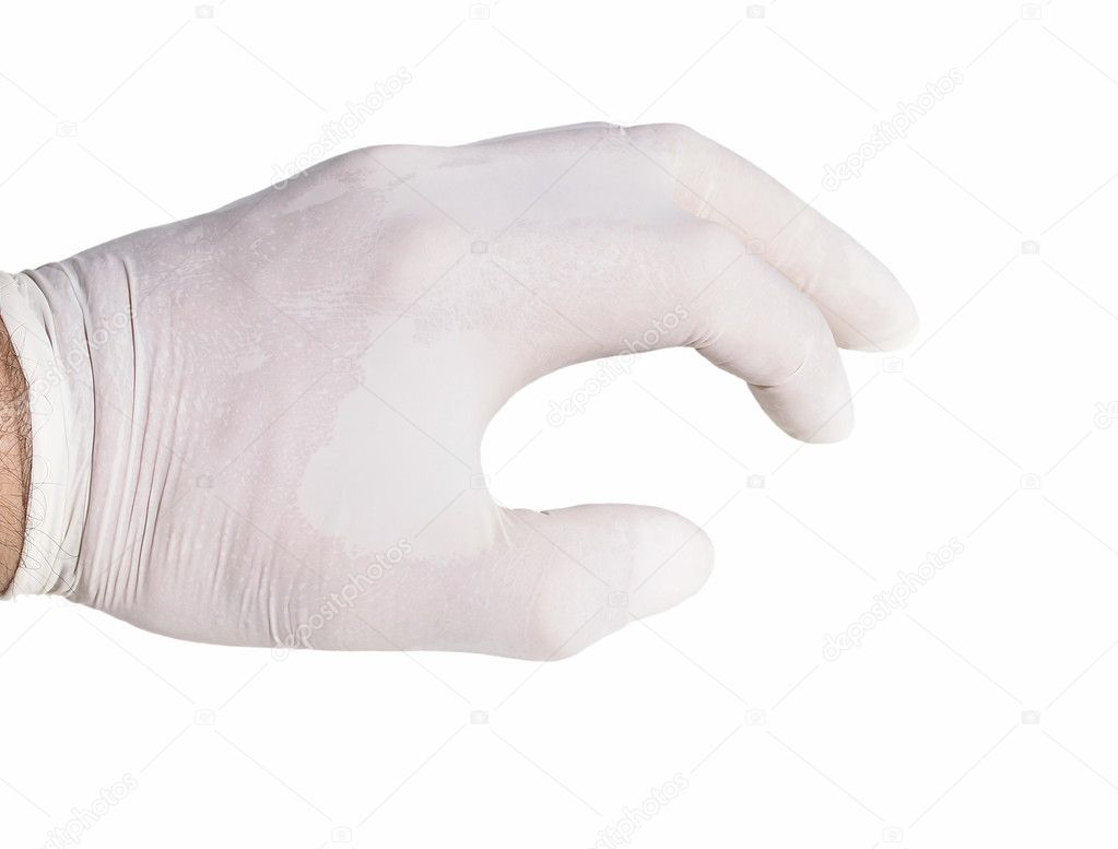 Surgical gloves on isolated white background — Stock Photo #7950485