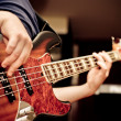 Stock Photo: Musiciplaying guitar