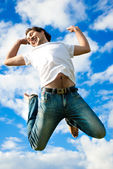 Man jumping — Stock Photo