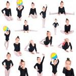 Girl gymnast collection — Stock Photo