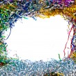 Tinsel frame — Stock Photo