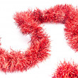 Stock Photo: Red tinsel