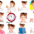 Set of child — Stock Photo