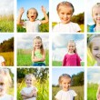 Set of little girl — Stock Photo