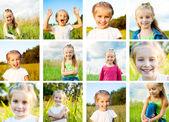 Set of little girl — Stock Photo