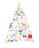 Celebratory fir-tree — Stock Photo