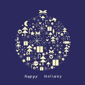 Celebratory fur-tree sphere — Stock Photo