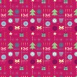 Seamless Christmas pattern with the text — Stock Photo #7023730