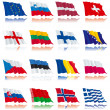 Flags's set of Europe nations - 1 — Stock Vector