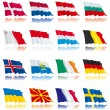 Flags's set of Europe nations - 2 — Stock Vector
