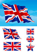 Set of British flag — Stock Vector