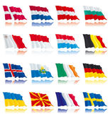 Flags's set of Europe nations - 2 — Wektor stockowy