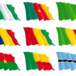 Flags of the African nations (set 1) - Stock Vector