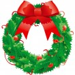 Royalty-Free Stock Vector Image: Christmas holly wreath