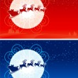 Santa Claus Sleigh — Stock Vector #7421148