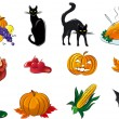 Halloween set - Imagens vectoriais em stock