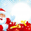 Royalty-Free Stock Vector Image: Santa Claus and red bags