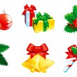 Set of christmas icon — Stock Vector