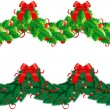 Stock Vector: Two vector hristmas garlands (semicircle)