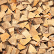 Stacked fire wood background — Stock Photo #7506075