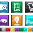Electronic equipment,each color icon is set on a different layer — Stock Vector #7020845