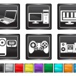 Stock Vector: Electronic equipment,each color icon is set on different layer