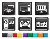 Electronic equipment,each color icon is set on a different layer — Stock Vector