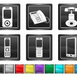 Phone icon,each color set is set on a different layer — Stock Vector
