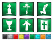 Icônes de la religion, chaque icône de couleur est définie sur un autre calque — Vecteur