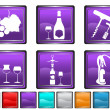 Stock Vector: Wine icons,each icon is set on different layer