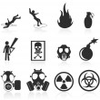 Stock Vector: Danger icons,easy to edit and re size