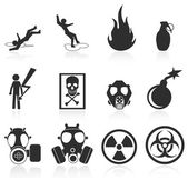Danger icons,easy to edit and re size — Stock Vector