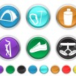 Royalty-Free Stock Vector Image: Climbing icons,each color icons is set on a different icons