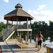 Stock Photo: Gazebo at Lake Artimisiin MD, USA