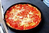 Deep Dish Pizza — Stock Photo